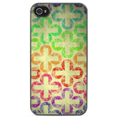Чехол для iPhone Радужные крестики