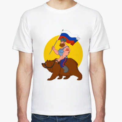 Футболка Русский на медведе