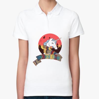 Женская рубашка поло Рождественский Единорог в стиле Доктора Кто