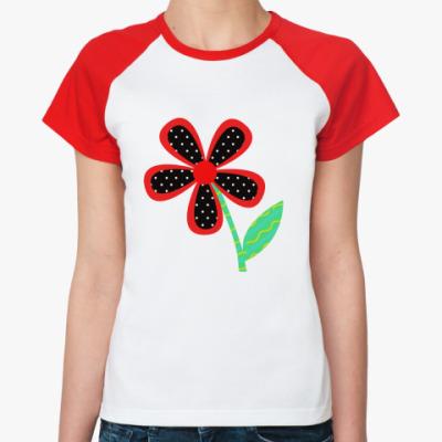 Женская футболка реглан Коллаж