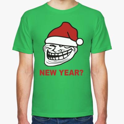 Футболка Новогодний Trollface