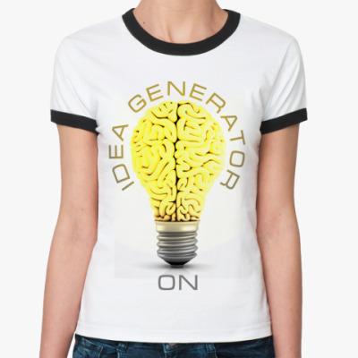 Женская футболка Ringer-T Idea generator (on)