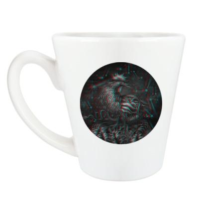 Чашка Латте Петух 3D символ 2017 года