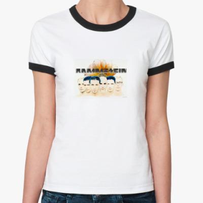 Женская футболка Ringer-T Раммштайн