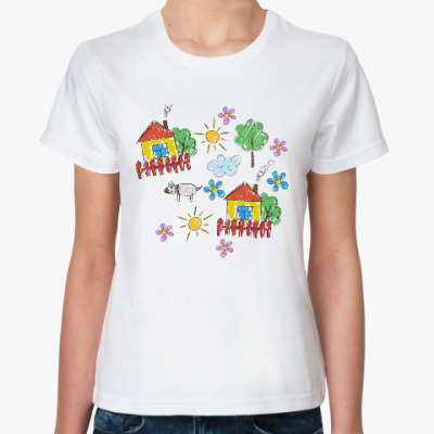 Классическая футболка Домики