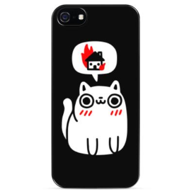 Чехол для iPhone Котик злой