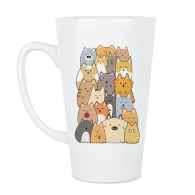 Чашка Латте Смешные коты (funny cats)