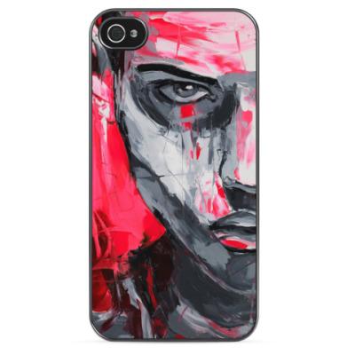 Чехол для iPhone Man el pink