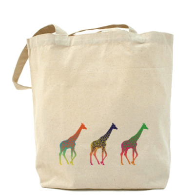 Сумка Цветные жирафы