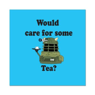 Наклейка (стикер) Dalek Tea Doctor Who