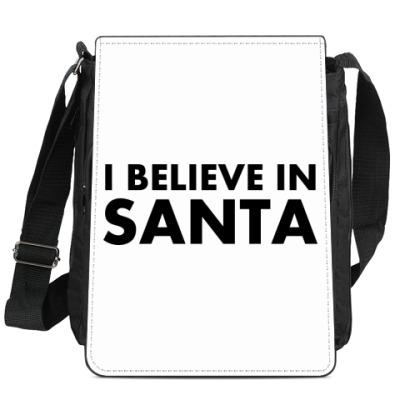 Сумка-планшет I believe in Santa