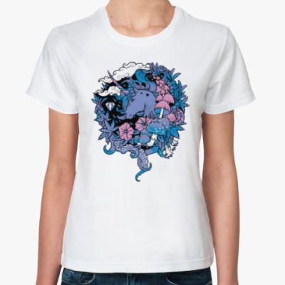 Классическая футболка Fantasy Unicorn