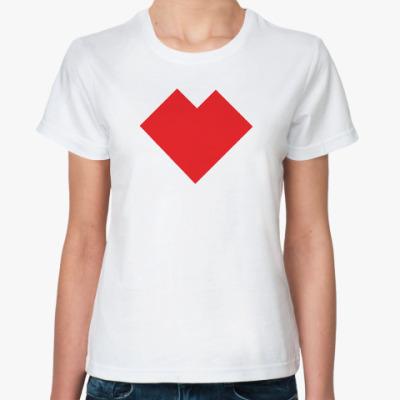 Классическая футболка Сердце танграм