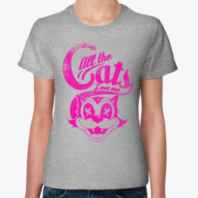 Женская футболка Все коты любят Меня