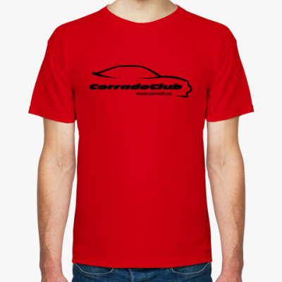 Футболка Логотип Corrado Club Black (красная)