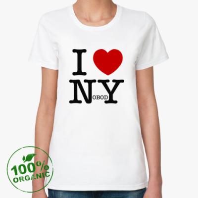 Женская футболка из органик-хлопка I love nobody