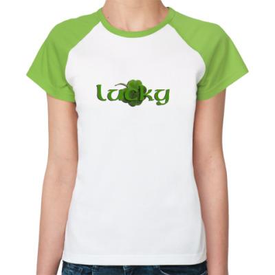 Женская футболка реглан Lucky