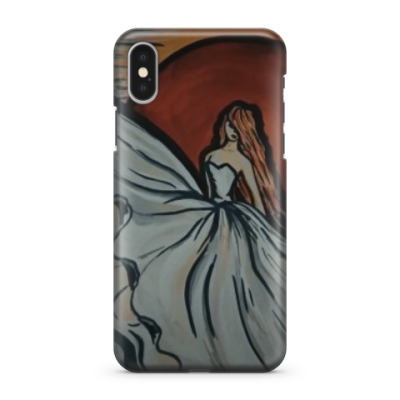 Чехол для iPhone X Девушка судьба