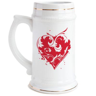 Пивная кружка Сердце
