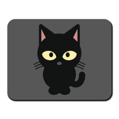 Коврик для мыши Черный Котик