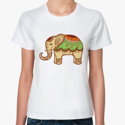 Классическая футболка Белый слон