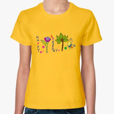 Женская футболка День рождения