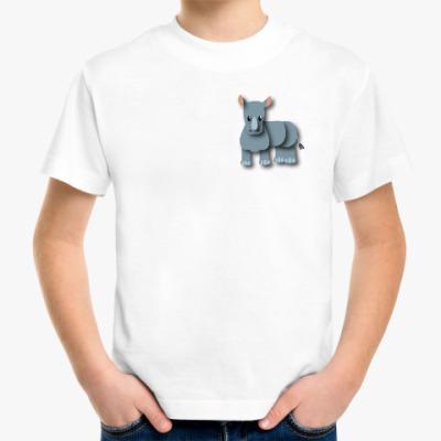 Детская футболка Носорог