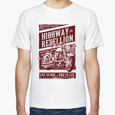 Футболка Highway Rebellion Live to Ride Biker