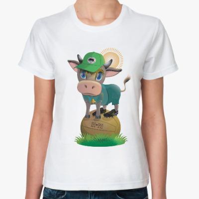 Классическая футболка Вперед, краснодарский бычок!