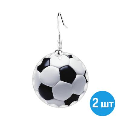 Серьги Футбольный мяч