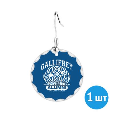 Серьги Gallifrey University Alumni