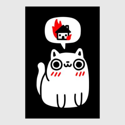 Постер Котик злой