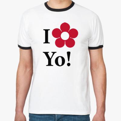 Футболка Ringer-T I love Yo!