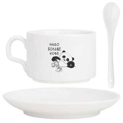Кофейный набор Панда хочет больше кофе