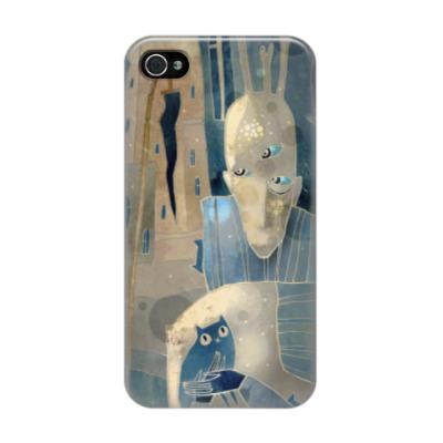 Чехол для iPhone 4/4s Человек с котятами