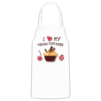 Фартук I love my vegan cupcakes