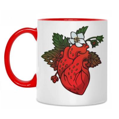 Кружка Клубничное сердце