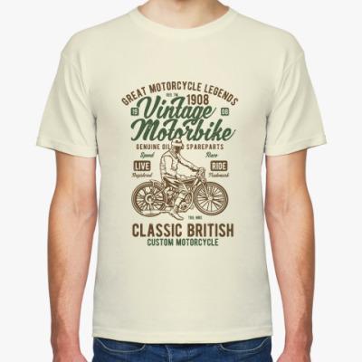Футболка Vintage Motorbike Classic British Biker