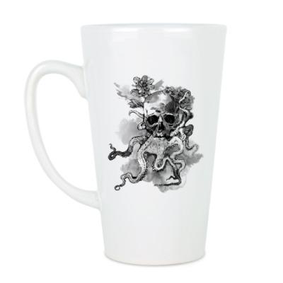 Чашка Латте Череп-кальмар