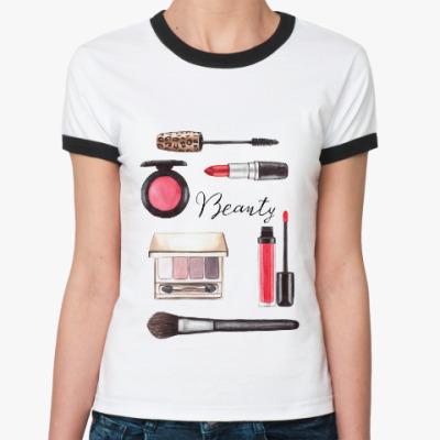 Женская футболка Ringer-T Beauty