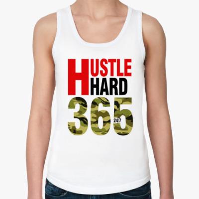 Женская майка Hustle HARD 365