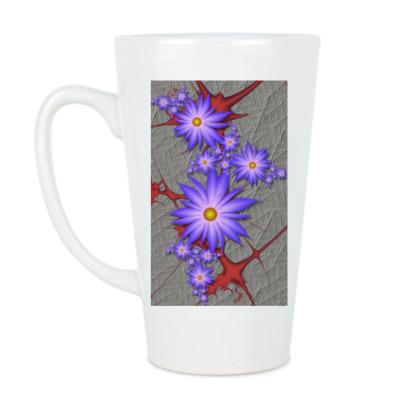 Чашка Латте Цветы на крови