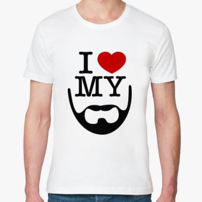 Футболка из органик-хлопка I love my beard