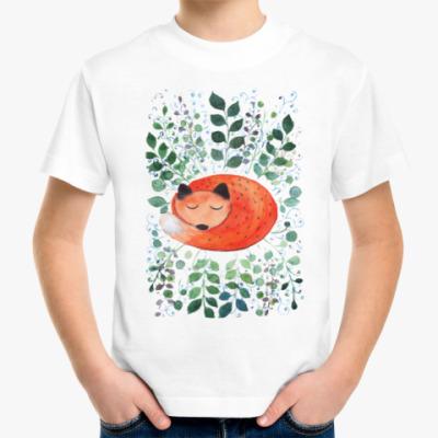 Детская футболка Лиса в траве