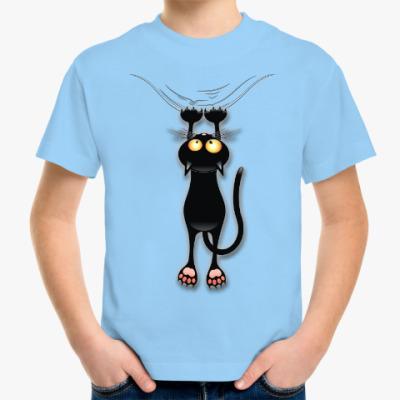 Детская футболка Черная кошка