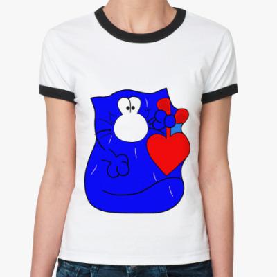 Женская футболка Ringer-T котэ