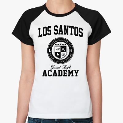 Женская футболка реглан Los Santos Grand Theft Academy
