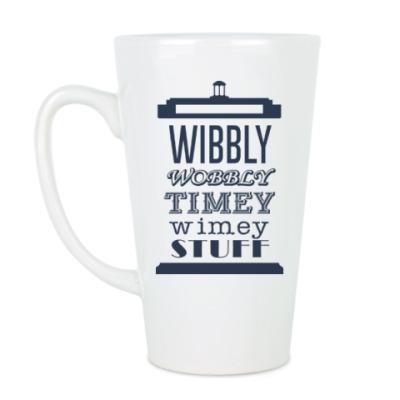 Чашка Латте Wibbly Wobbly Timey Wimey Stuf