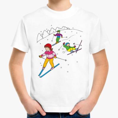 Детская футболка Лыжники