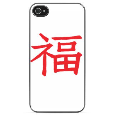 Чехол для iPhone Иероглиф счастье